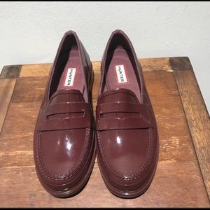 Hunter penny loafers Rubber shoes